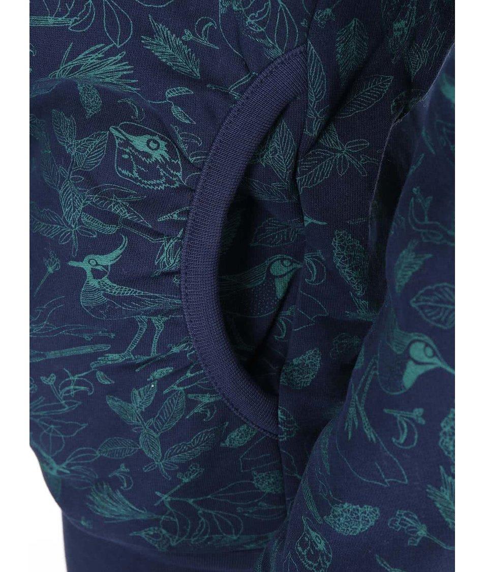 Tmavě modrá dámská mikina s potiskem ptáčků Ragwear Angel