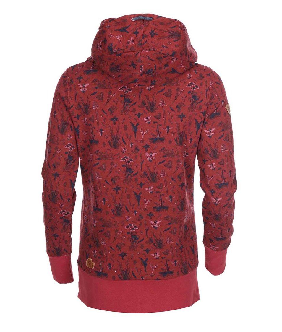 Tmavě červená dámská mikina Ragwear Herb