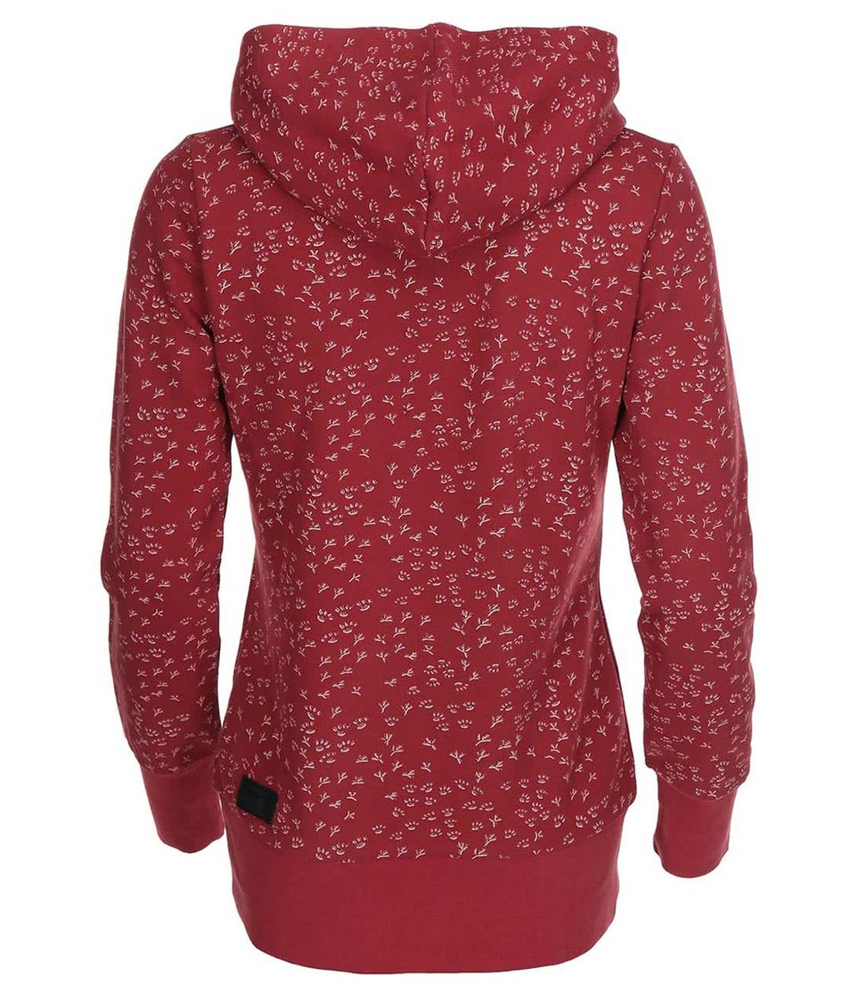 Tmavě červená dámská mikina Ragwear Chelsea