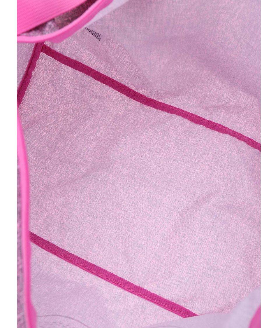 Šedo-růžová dámská oválná taška Converse Duffel Poly