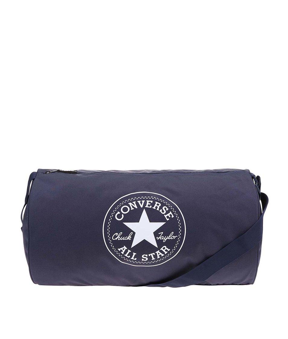 Modrá oválná unisex taška Converse Duffel Poly