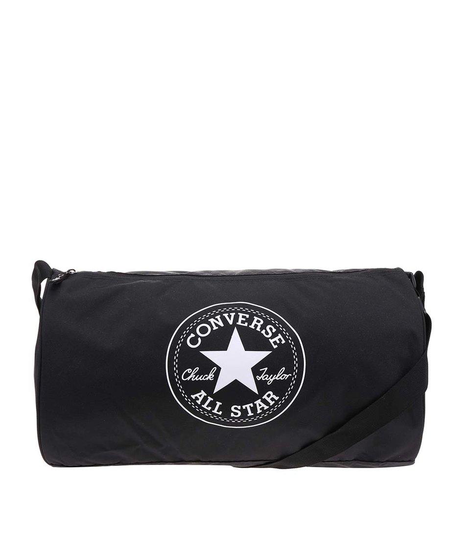 Černá oválná unisex taška Converse Duffel Poly