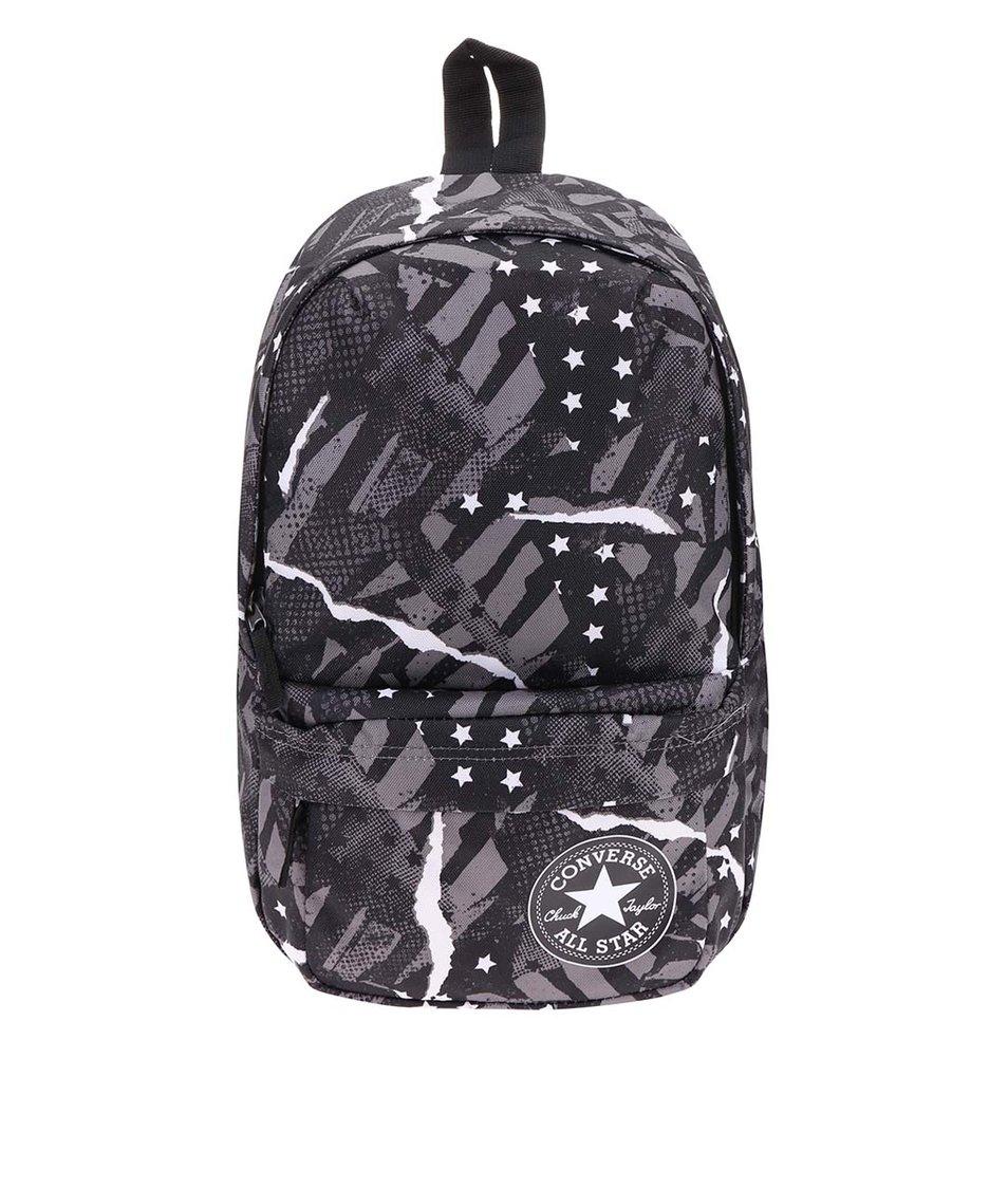 Šedo-béžový batoh s potiskem Converse Back To It