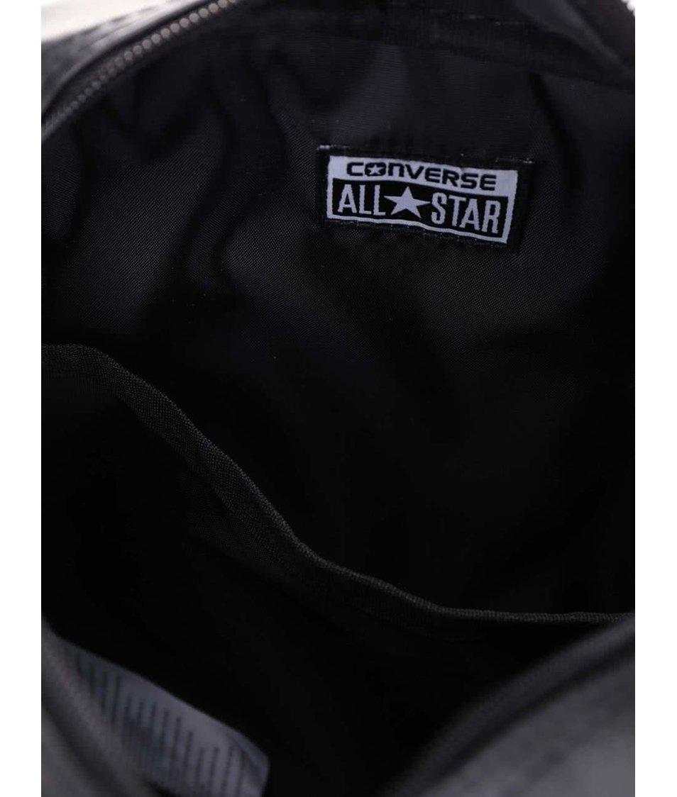 Černá koženková crossbody taška Converse