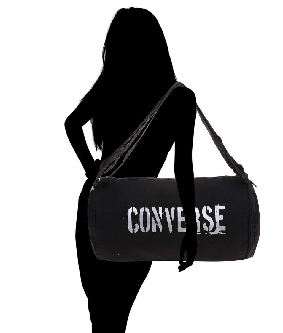 Černá oválná taška Converse Duffel