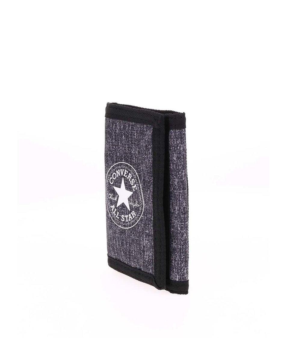 Šedá žíhaná peněženka s logem Converse Tri-Fold