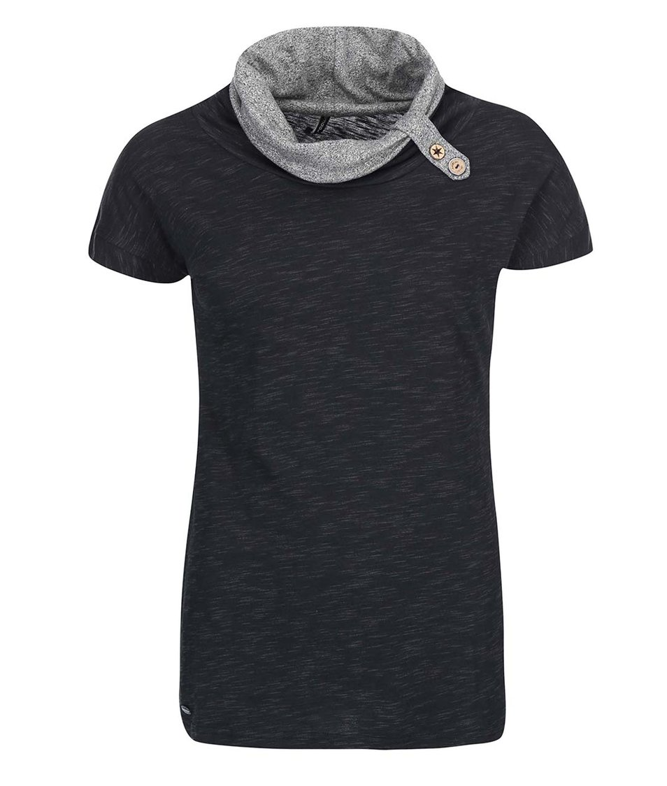 Černé dámské tričko s límcem Ragwear Highway