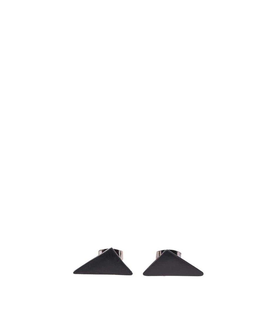 Černé trojúhelníkové náušnice Pieces Elona