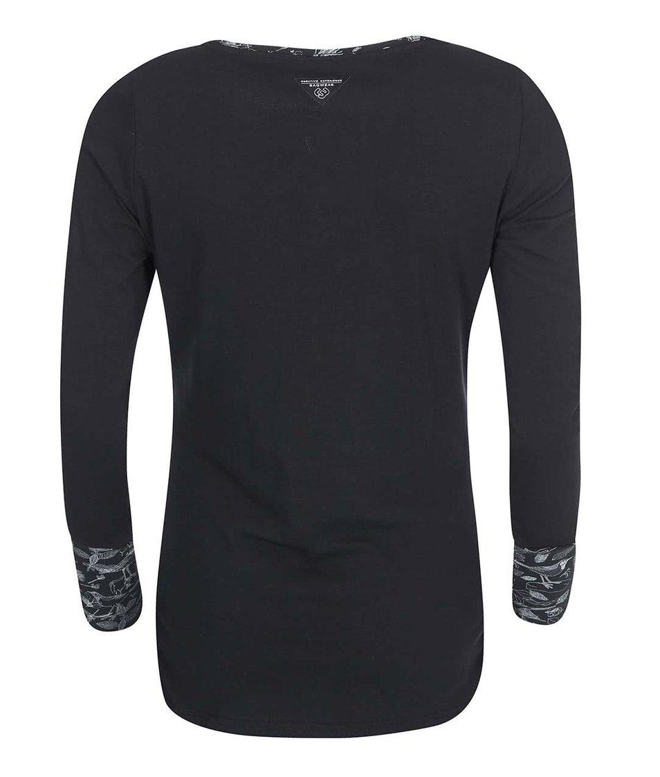 Černé dámské tričko s dlouhým rukávem Ragwear Zimt