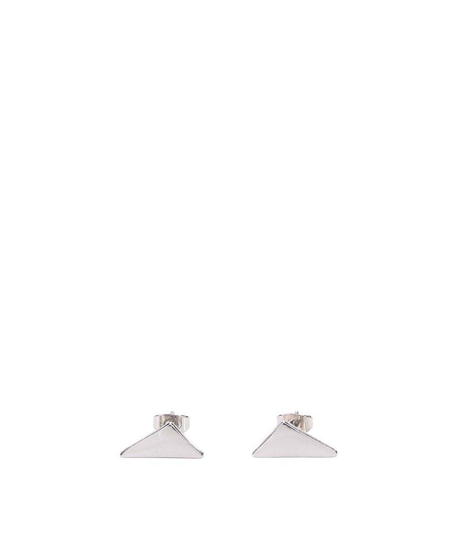 Trojúhelníkové náušnice ve stříbrné barvě Pieces Elona