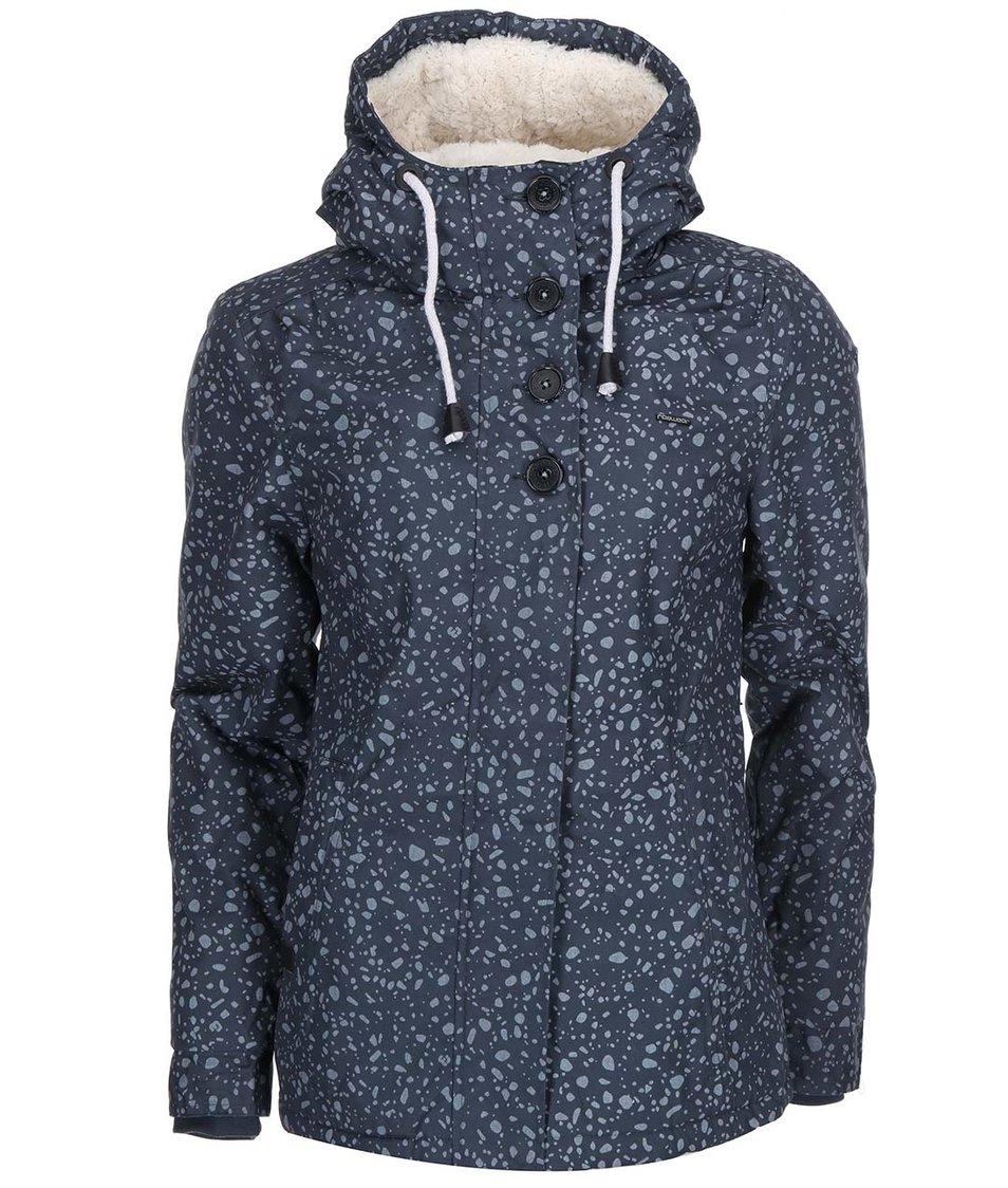 Šedomodrá dámská zimní bunda Ragwear Lynx