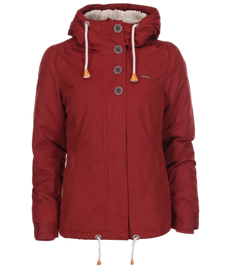 Tmavě červená dámská bunda Ragwear Lynx