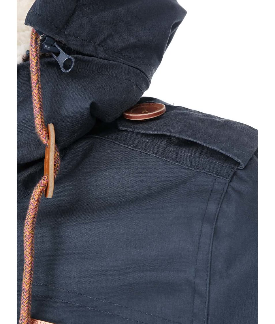 Šedomodrá dámská zimní bunda Ragwear Ewok A