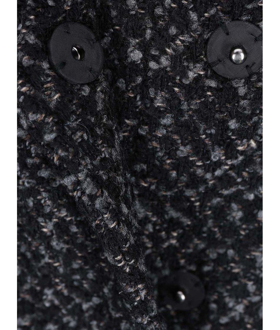 Šedo-černý kabát VILA Cama