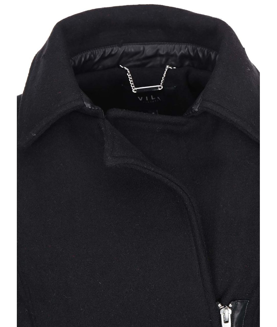 Černý kabát VILA Darling
