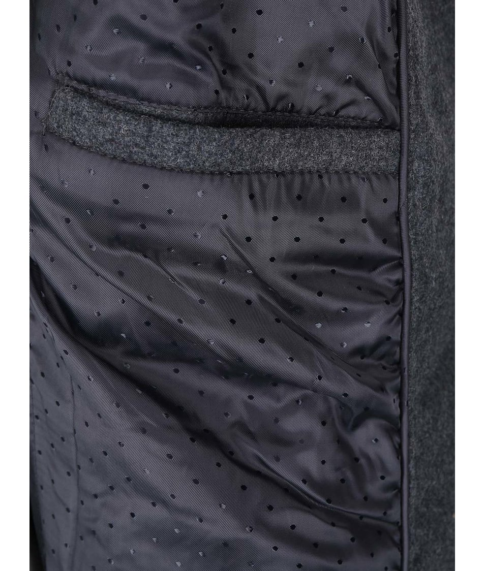 Tmavě šedý kabát VILA Darling
