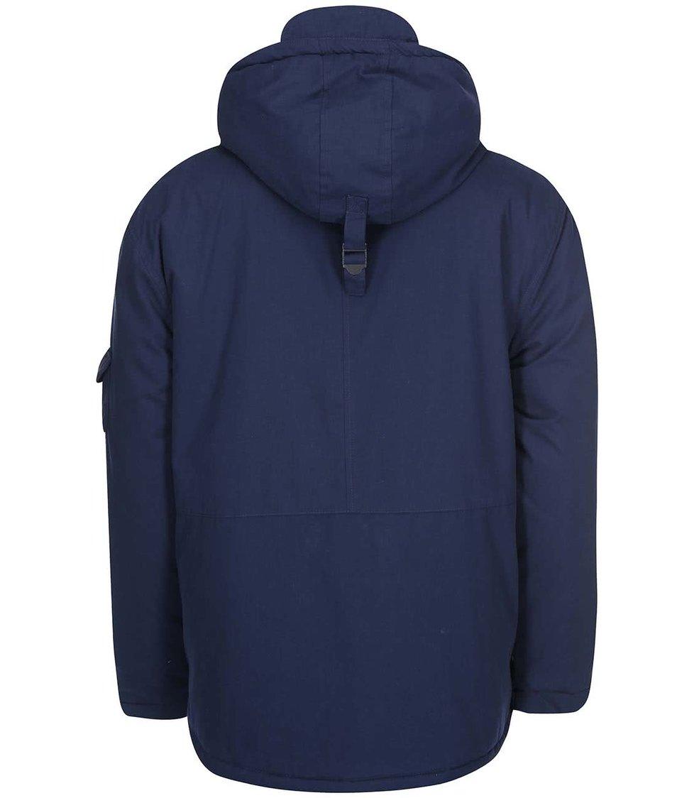 Tmavě modrá bunda s kapucí D-Struct Stirling