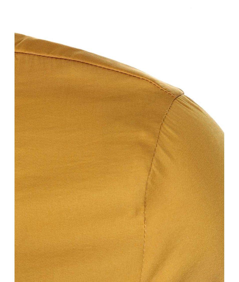 Hořčicová lesklá delší košile VILA Sofital Long