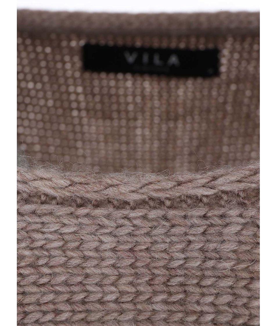 Béžový volnější svetr VILA Serva