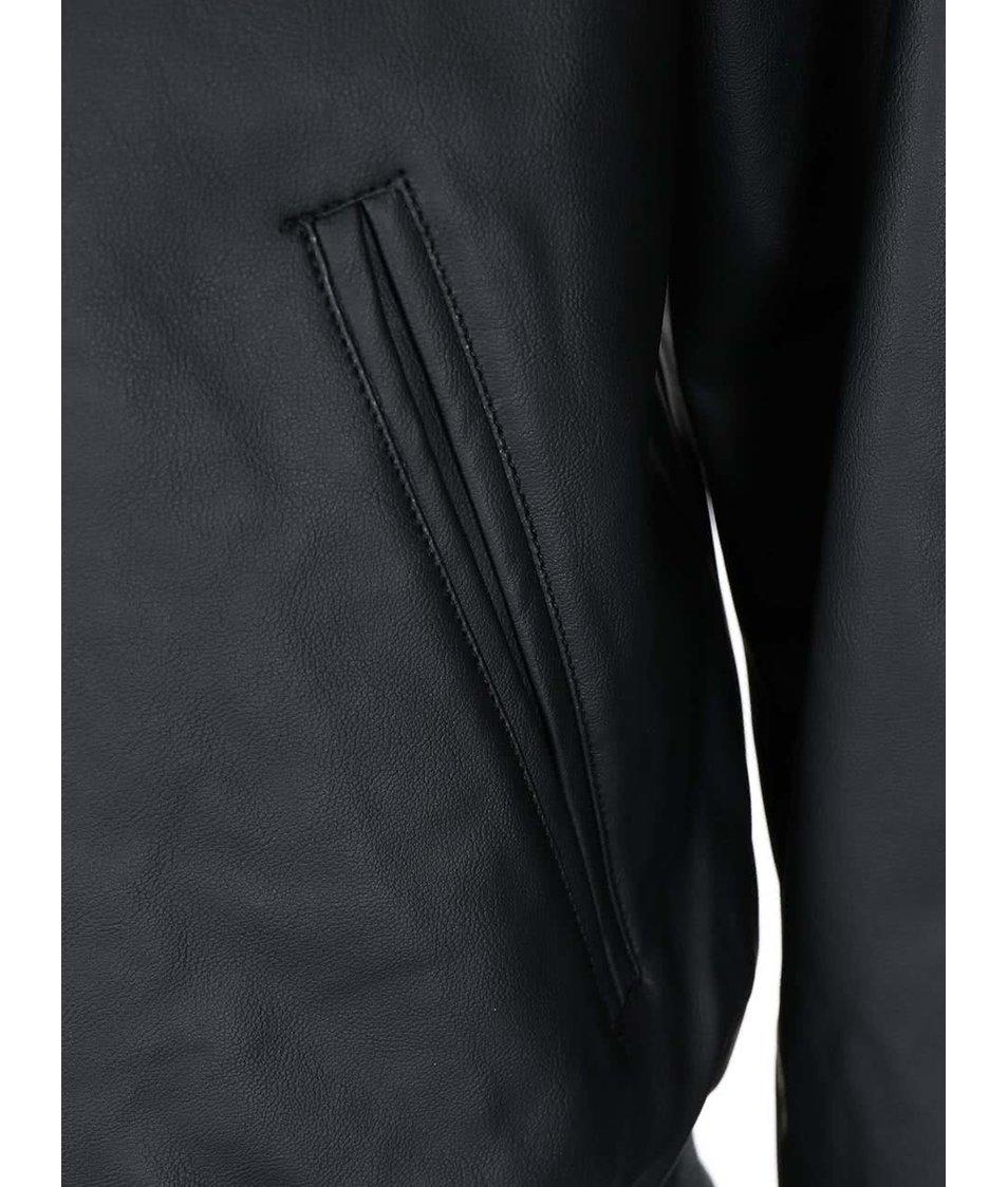 Černá koženková bomber bunda D-Struct Folly