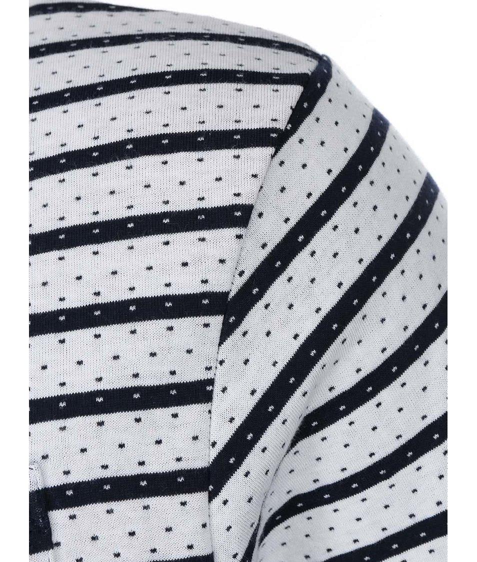 Modro-krémové pruhované triko D-Struct Wiress