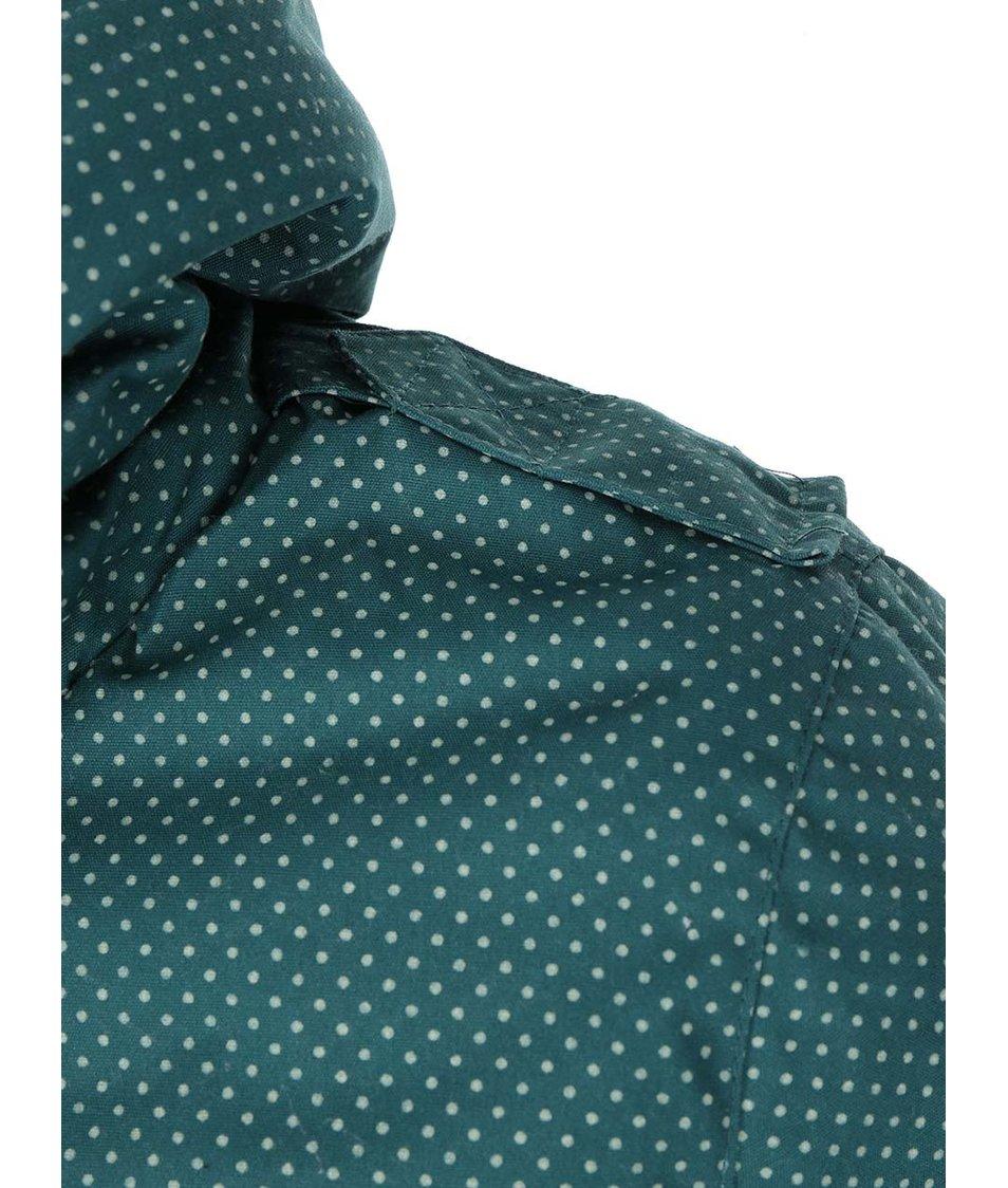 Zelená dámská parka s puntíky Ragwear Laika