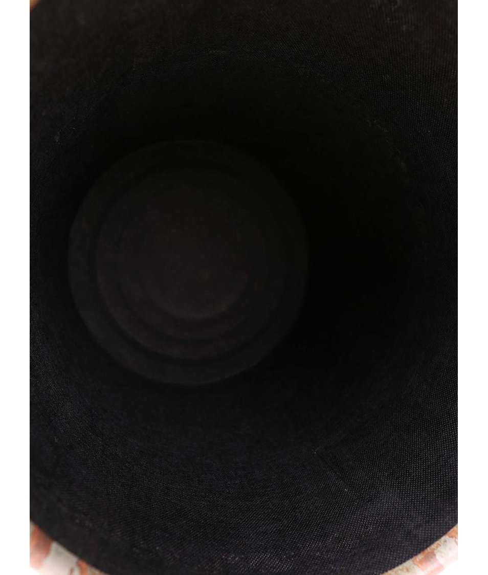 Khaki kovový taburet s úložným prostorem Dakls