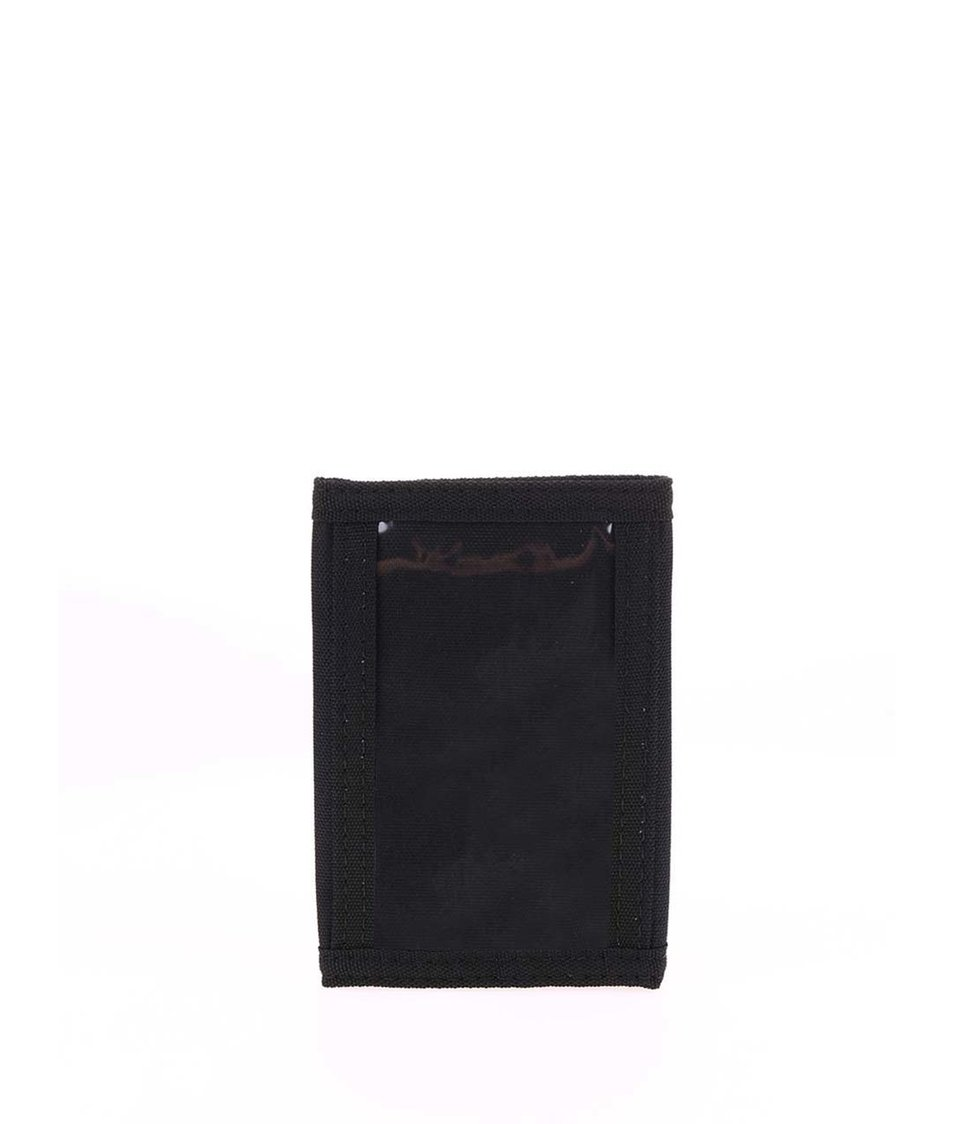 Černá peněženka s logem Converse Tri-Fold