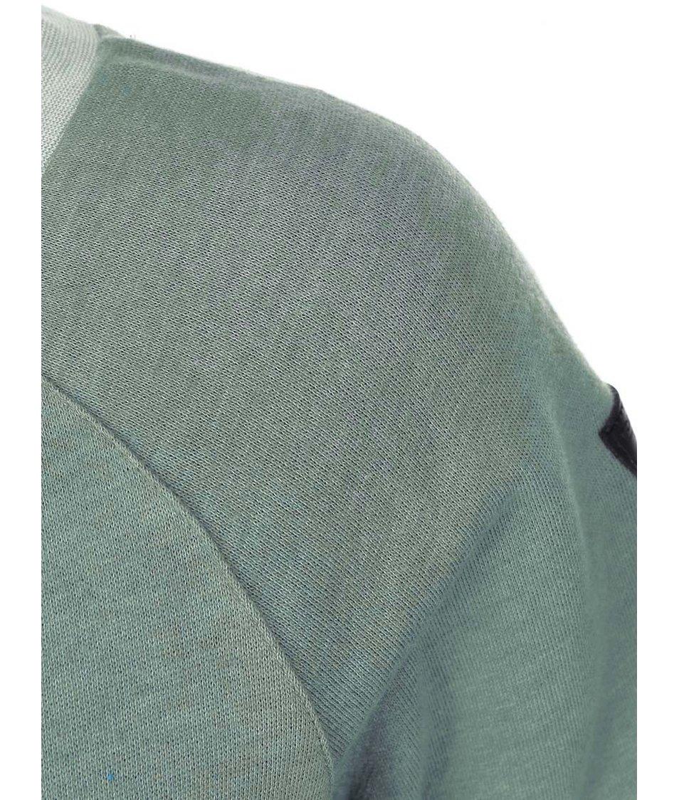 Zelenošedá dámská mikina s potiskem Ragwear Kind