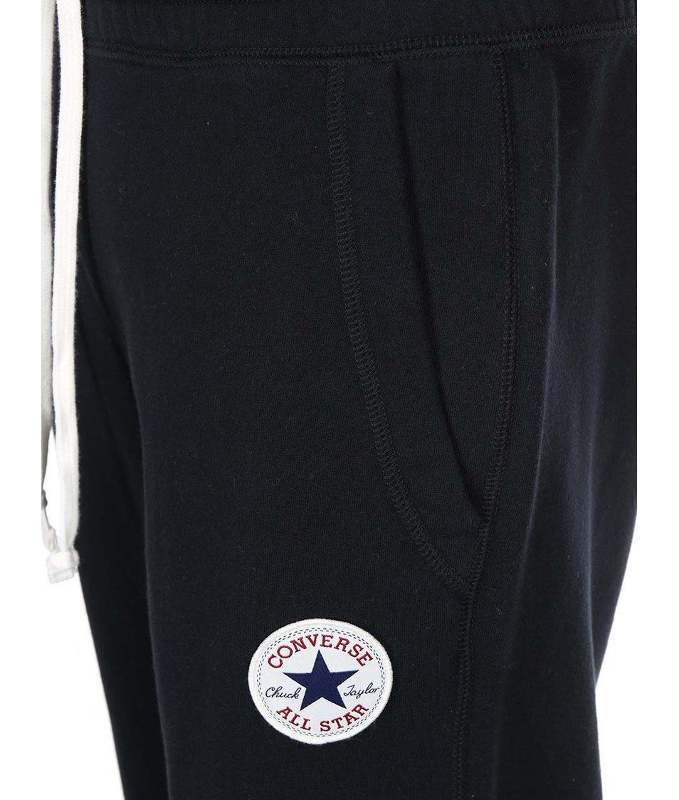 Černé pánské tepláky s logem Converse