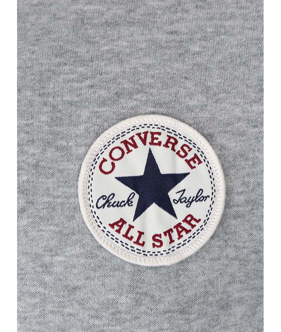Šedá pánská mikina s logem Converse