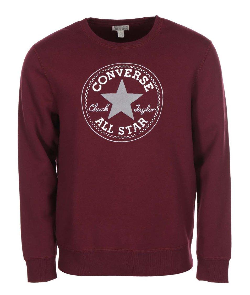 b99cc52d1c7 Vínová pánská mikina s logem Converse - Vánoční HIT!