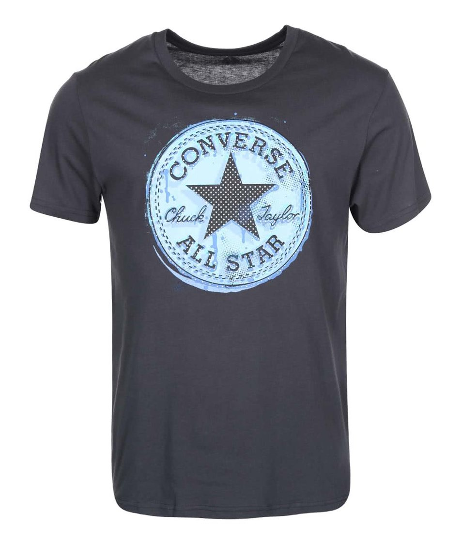 Tmavě šedé pánské triko s logem Converse