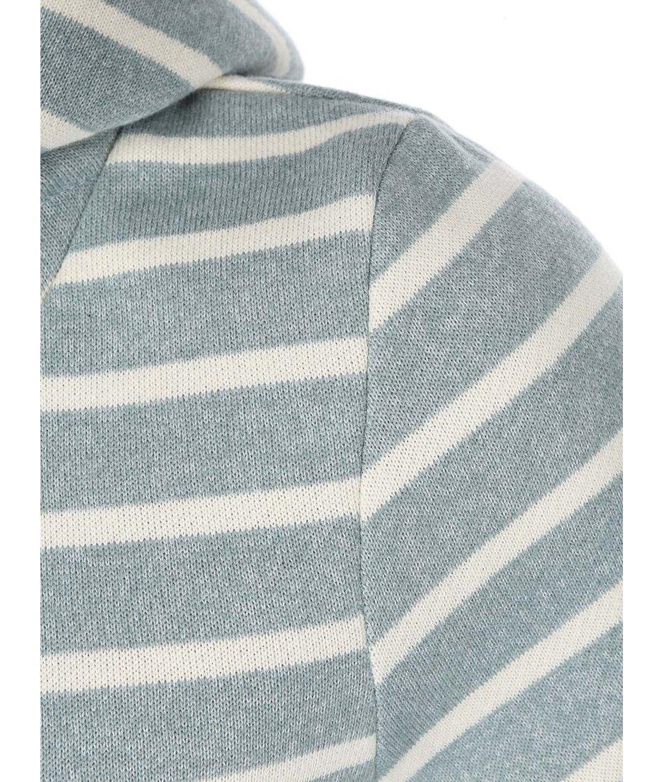 Krémovo-zelená pruhovaná dámská mikina Ragwear Beat Stripes