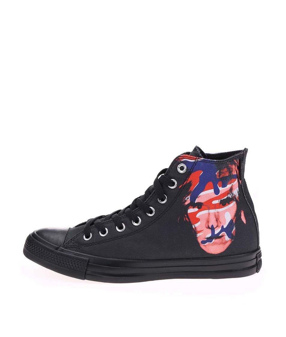 Černé pánské kotníkové tenisky Converse Chuck Taylor All Star Warhol