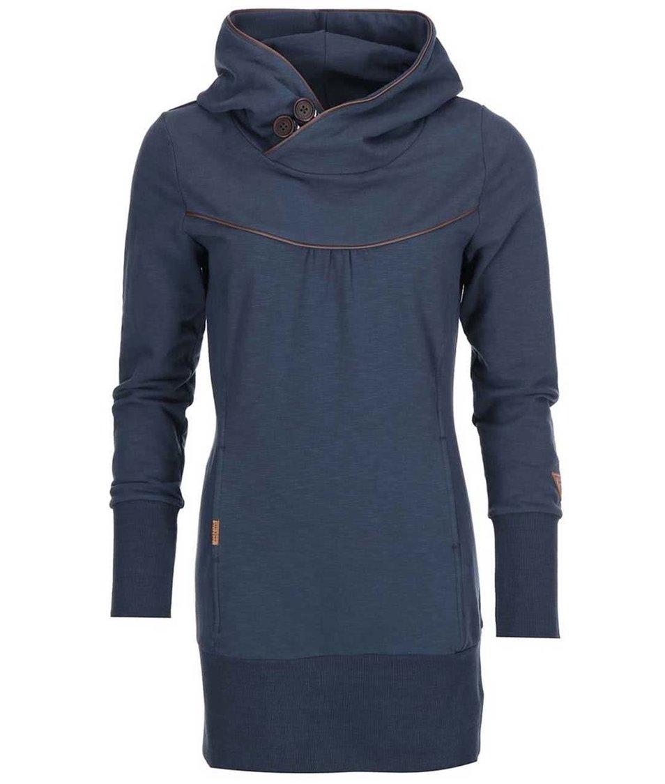 Šedomodré mikinové šaty Ragwear Manchester