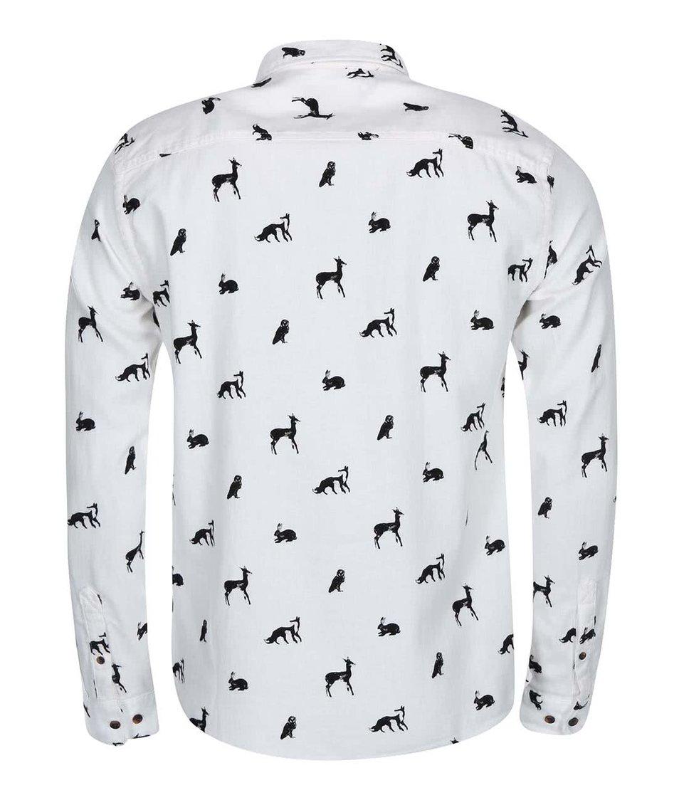 Bílá košile se zvířecím vzorem ONLY & SONS Carl