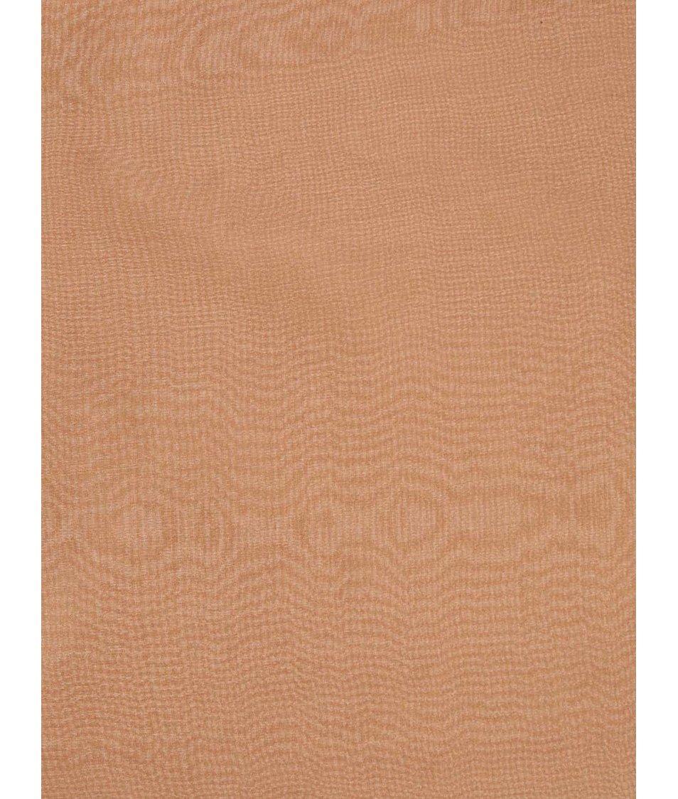 Hnědý hedvábný šátek Pieces Elli
