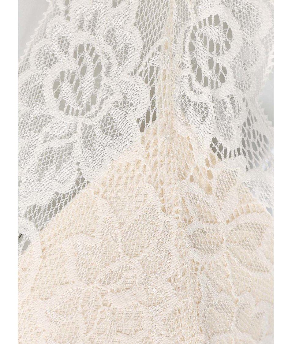 Krémová krajkovaná podprsenka Pieces Kimara New Bra