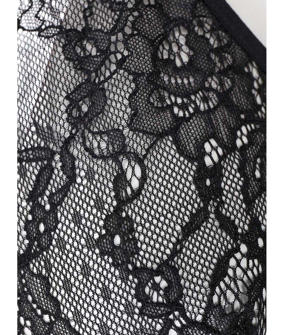 Černá krajkovaná podprsenka Pieces Recilia