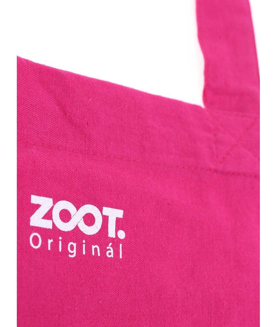 Růžová plátěná taška ZOOT Originál Normal Is Boring