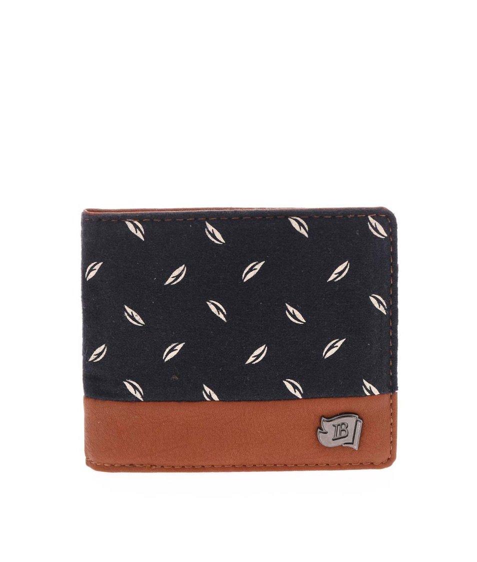 Hnědo-modrá vzorovaná peněženka Icon Brand Santa Monica