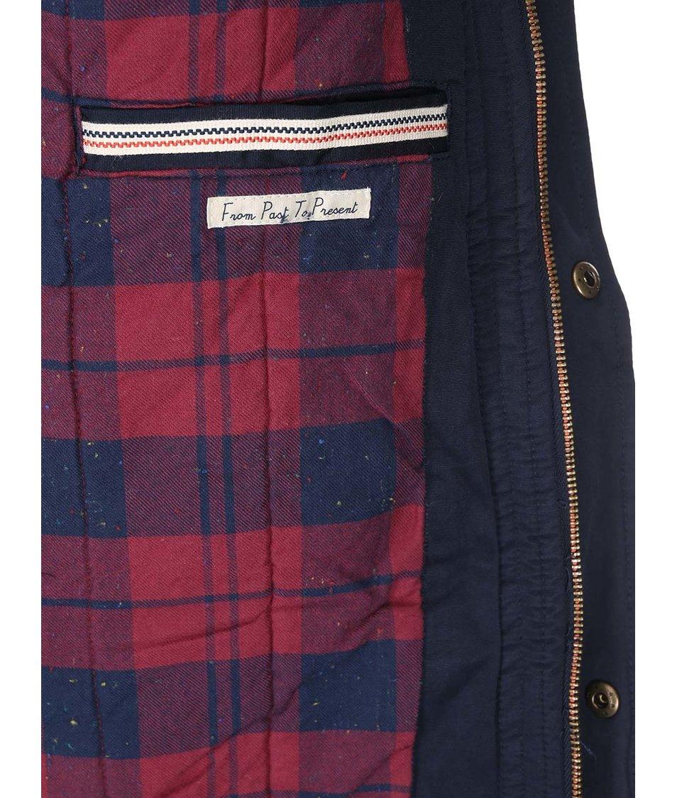Červeno-černá bunda s flanelovým vzorem Jack & Jones Chuck
