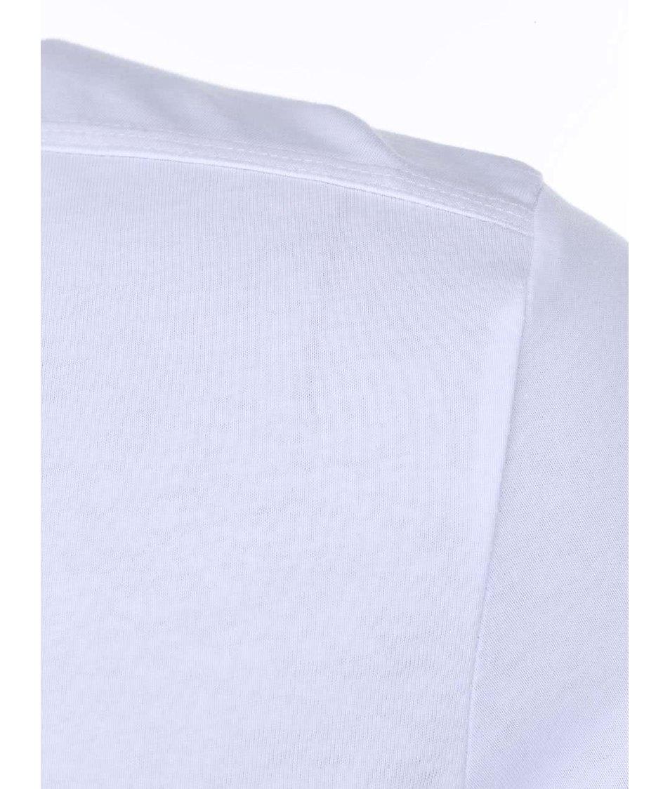Bílé triko s potiskem Jack & Jones Well