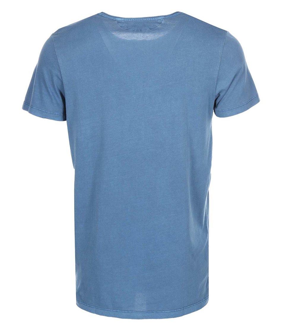 Modré triko s knoflíky Jack & Jones Ross