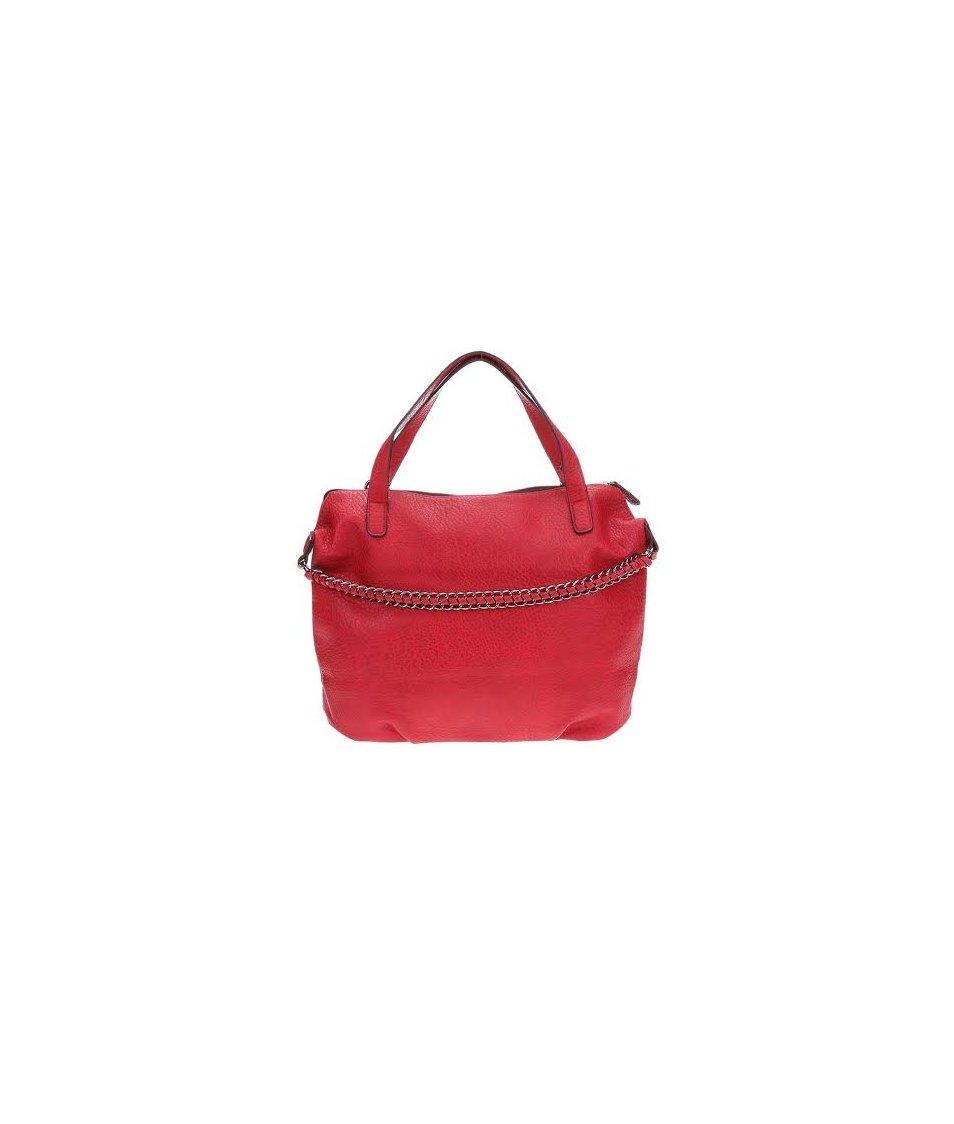 Červená větší kabelka Pieces Roma