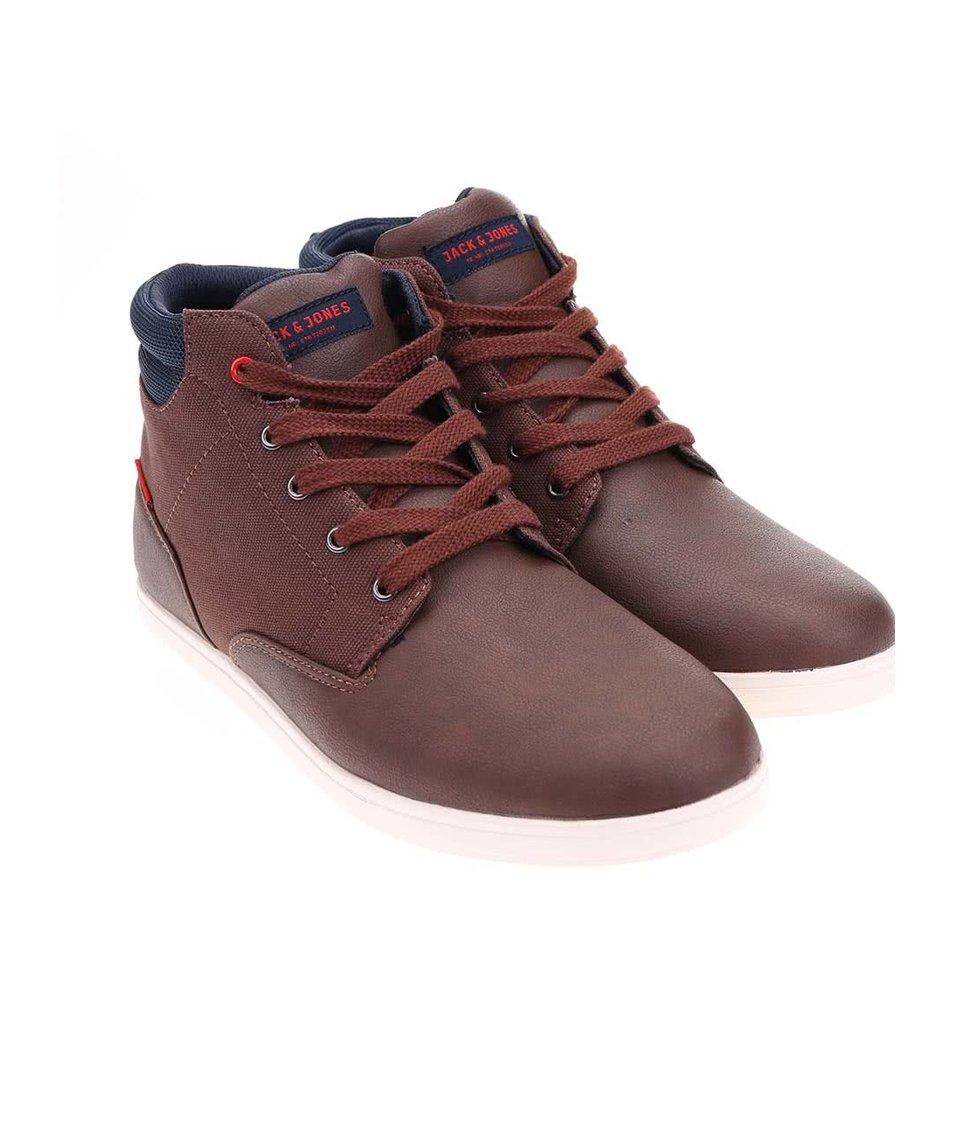 Hnědé kotníkové boty Jack & Jones Vaspa