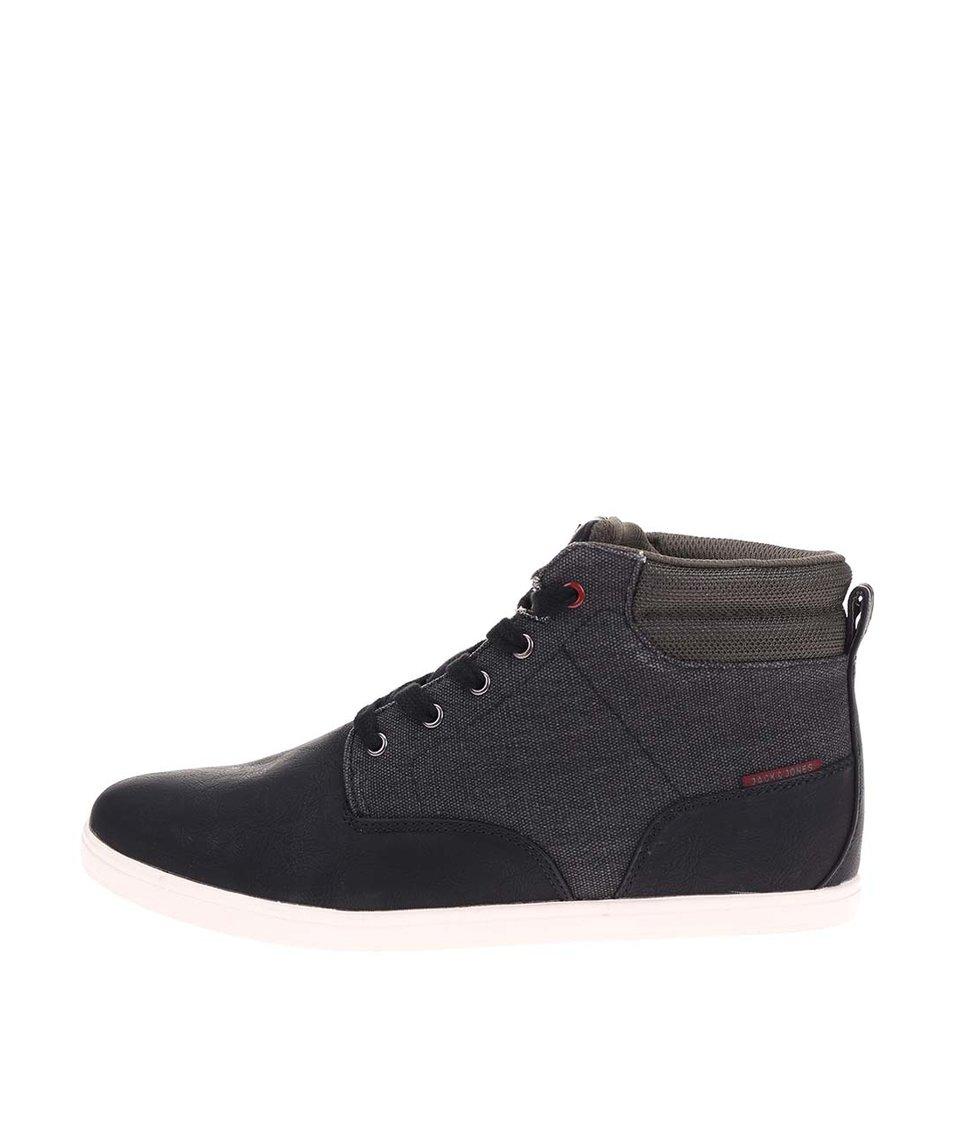 Černé kotníkové boty Jack & Jones Vaspa