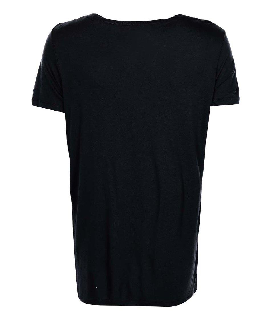 Černé tričko s potiskem ONLY Dixie