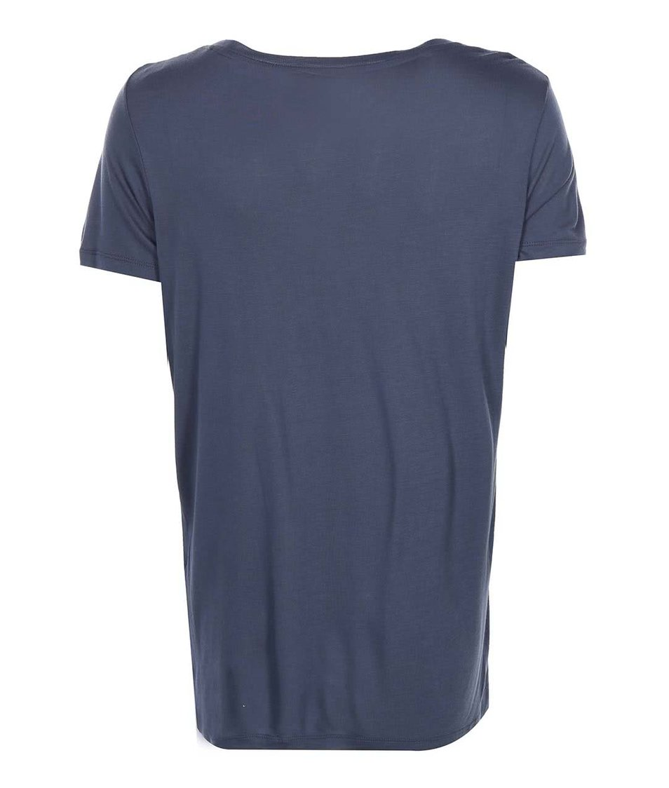 Šedomodré tričko s potiskem ONLY Dixie